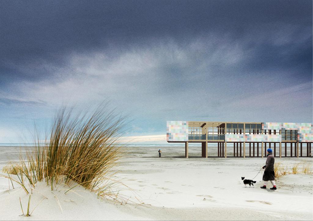 impressie juttershuis strandpaviljoen van de toekomst